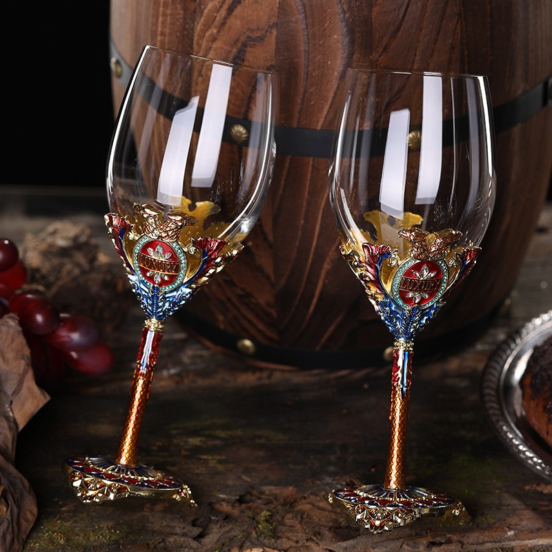 Goblet Creative Red Wine Set Wedding Birthday Party Supplies Gift Anniversary Crystal Wine Glasses  Wine Glass Christmas