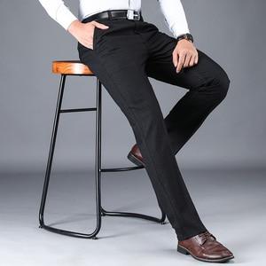 Image 5 - NIGRITY 2019 סתיו חורף גברים של חליפת מכנסיים ישר מכנסיים באיכות גבוהה אופנה גברים קלאסי עסקי שמלת צפצף 3 צבעים