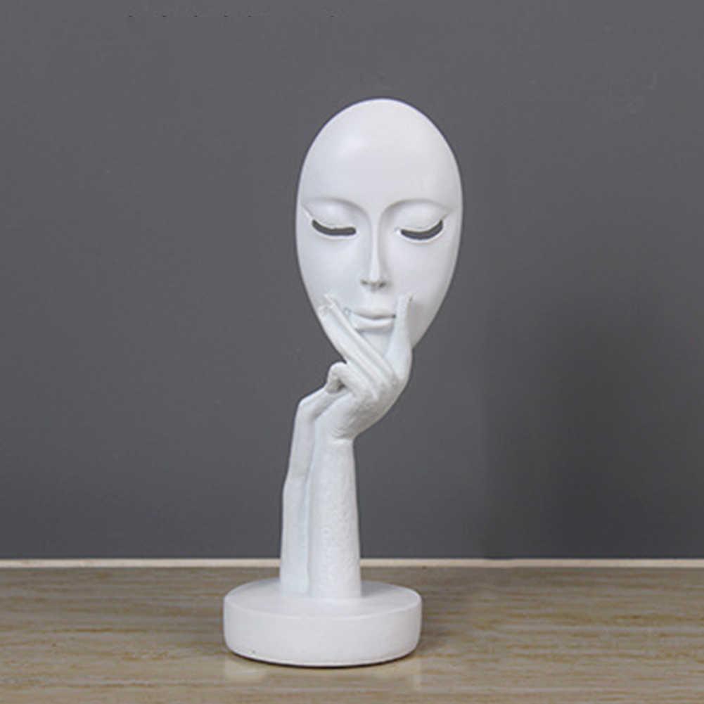 Minyatür figürler soyut insan yüzü modeli reçine heykeller dekorasyon sanat için el sanatları masaüstü heykel ofis ev dekor heykeli