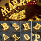 White Alphabet LED L...