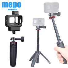 Go Pro 8 Plastic Vlog Case Cold Shoe Mount Microphone Adapter for Gopro 8 Sports Camera Case Fill Light 52MM Filter Adapter Ring