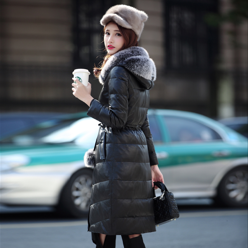 Leather Jacket Women Sheepskin Genuine Leather Jacket Women Clothes 2020 Duck Down Winter Coat Women Chaqueta Mujer YY989