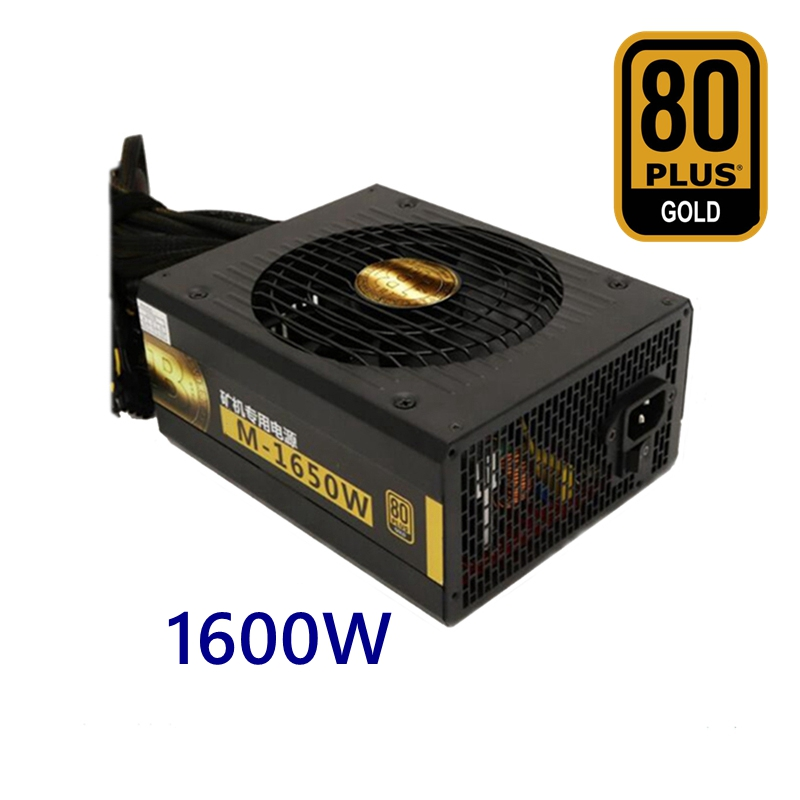 New minero bitcoin Miners 1600W Power Supply  ATX 12V 130A output for Mining Machine 6 video Card gtx 1080 1070 RX470 480 R570