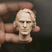1/6 Scale Male Head Scuplt Model PVC Joker Clown PVC Joaquin Phoenix Unpainted Head Sculpt Carving Model for 12'' Body