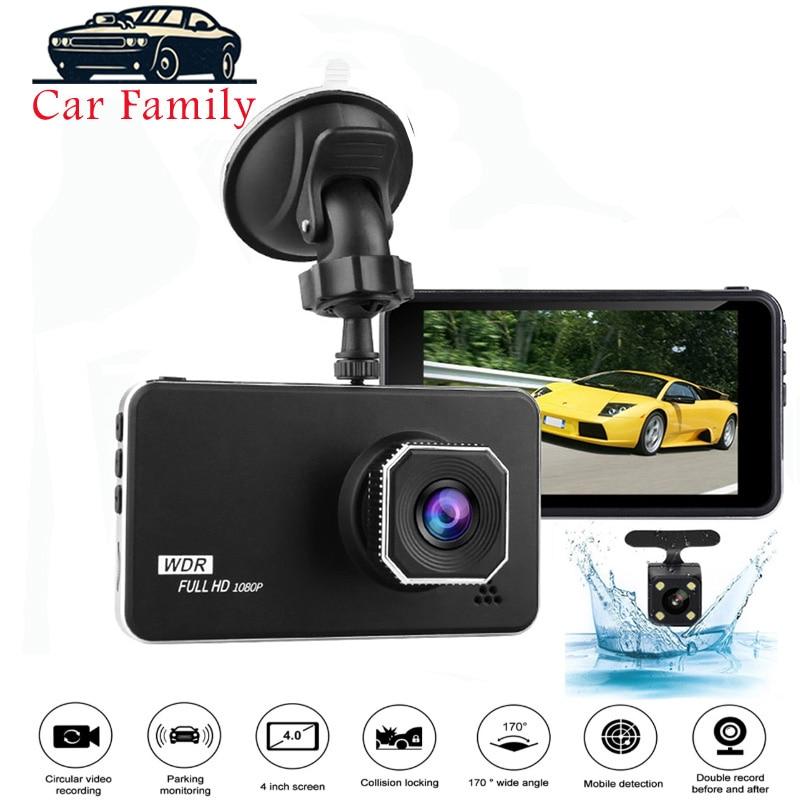 32GB TF 4/'/' HD 1080P Touch Screen Car DVR Dual Lens Dash Cam G-sensor 170° US