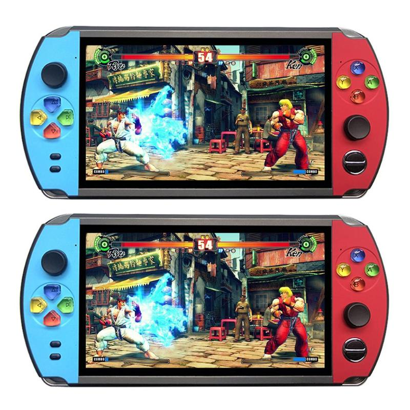 X19 7.0 inch Screen Retro Game Player TV Out Video Console 8GB/16GB Portable Game Console Built in 1600/2500 Games for children image