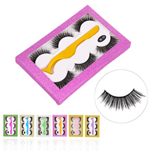 Get more info on the 3 Pair Makeup False Eyelashes with Tweezers 3D Natural Long Thick Fake Eye Lashes Extension Supplies Set Tools Box Packaging