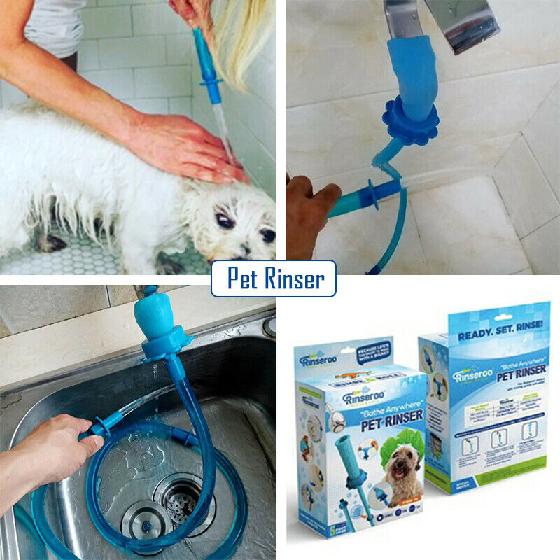 2019 Newest Pet Clearning Tools Universal Pet Shower Cleaner Sprinkler Hose Handheld Rinser Connector Dog Cat Wash Hose Dropship