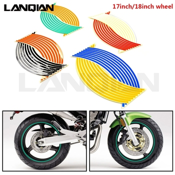 Motorcycle Strips Wheel Sticker Stripe Tape Accessory For Kawasaki KX KLX KDX 65 85 100 125 150 250 450 F R S SR D-TRACKER Parts image