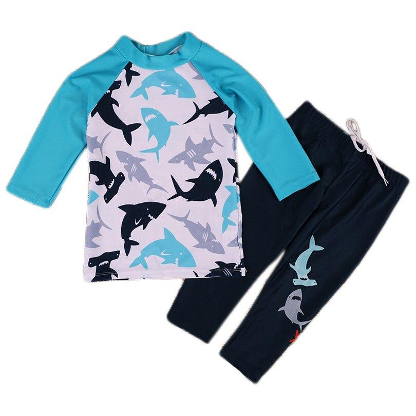 2020 Children's Swimsuit 2-14 Years Boys Long Sleeved Kids Swimwear Toddler Boy Bathing Suit Beachwear Swimming Suit Beach