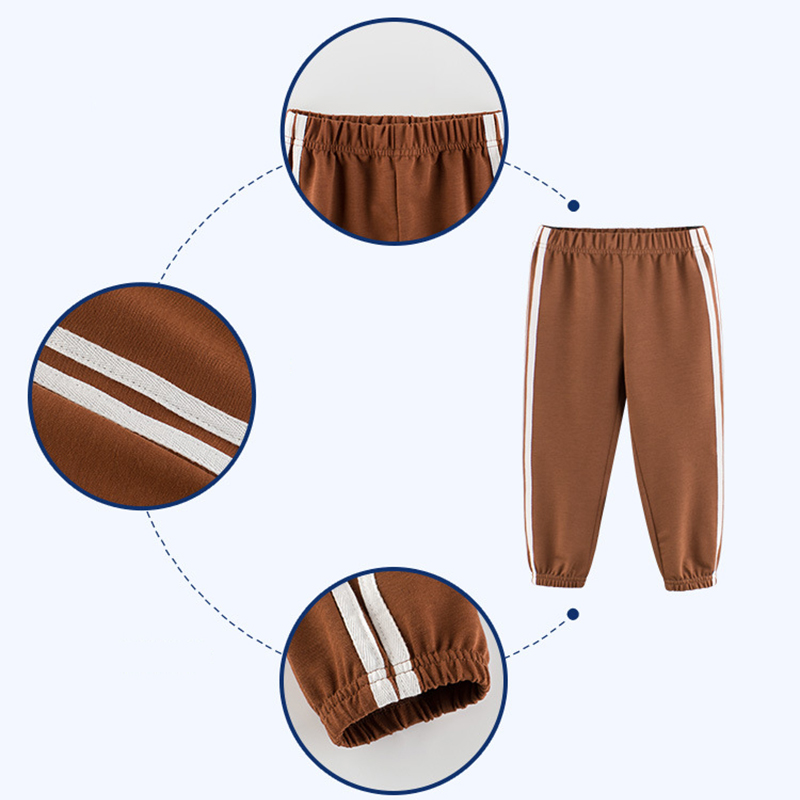 Children's School Sports Pants 19 New Girls pants Autumn Boys sports Trousers Girls Baby Cotton Stripes Leggings 7