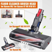 Floor Brush Head Fluffy Electric for Dyson V6 V7 V8 V10 V11 Vacuum Cleaner Parts Roller Brush Replacement Accessories