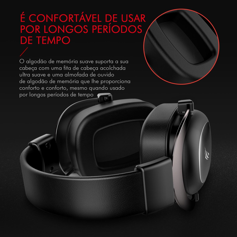 Headphone Fone de Ouvido Havit HV-H2002d, Gamer, com Microfone, Falante 53mm, Plug 3, 5mm: compatível com XBOX ONE e PS4