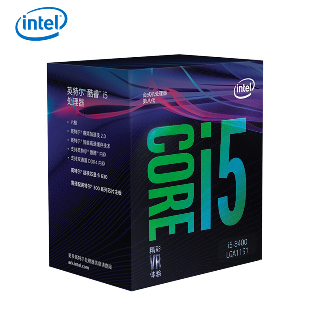 Intel Core i5-8400 Desktop Processor 6 Cores up to 4.0 GHz LGA 1151 300 Series 65W image