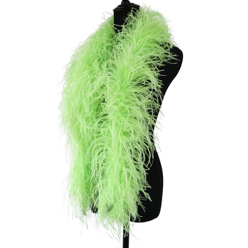 NEW Real Ostrich Feather Boa Fluffy Clothing Decoration Accessory 1.3 Meters for Party Dress Cosplay Craft Plumes Shawl 6 Ply