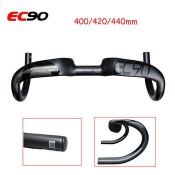 EC90 MTB 31.8mm Handlebar Carbon Fiber Bent Bar BMX Road Bicycle Handle Bar 400mm/420mm/440mm Ultra Light Cycling Accessories