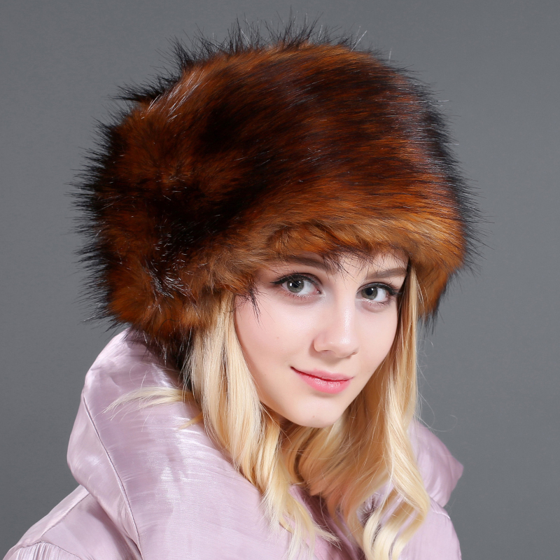 HT2728 Thick Warm Fur Hat Ladies Russian Hats For Women Winter Hat Female Windproof Ski Earflap Bomber Hat Russian Ushanka Hat