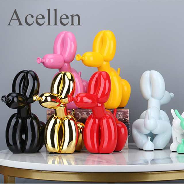 Squat Balloon Dog Statue Resin Sculpture Home Decor Modern Nordic Home Decoration Accessories for Living Room Animal Figures 1
