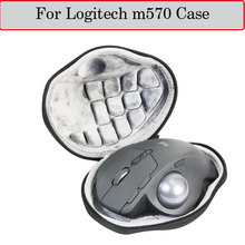 Newest Hard Case for Logitech m570 Advanced Wireless Trackball Mouse Pouch Box Case EVA Travel Protective Storage Bag