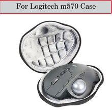 Più nuovo Caso Duro per Logitech m570 Avanzata del Mouse Trackball Senza Fili Del Sacchetto Della Cassa Della Scatola Sacchetto di Immagazzinaggio di Corsa di EVA di Protezione