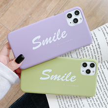 Smile Letters Slim PC Hard Case for IPhone 11 Pro Max Cartoon Cases Shock Plastic Back Cover Couple Case for Iphone 11 protective super slim plastic back case for iphone 5 deep pink
