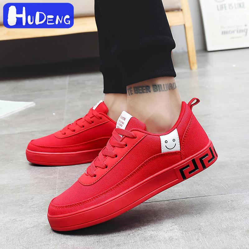 2019 Men's Plate Women Vulcanized Shoes Black Red Sneakers Ladies Lace-up Casual Breathable Walking Canvas Shoes Graffiti Flat