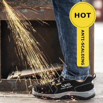2019 New for men Breathable safety Shoes Outdoor Indestructible Anti-smashing Steel Toe Lightweight Sneaker Work Shoes