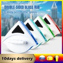Limpador de janela escova de limpeza de vidro para janelas de lavagem dupla face magnética limpador de janela de lavagem doméstica ímã de vidro mais limpo