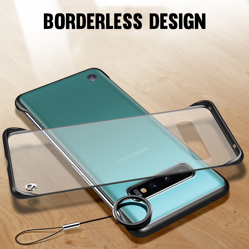 Frameless Matte Case For <font><b>Samsung</b></font> S10 Plus S10E M10 M20 A10 A20 Core A30 <font><b>A40</b></font> A50 A60 A70 A80 <font><b>2019</b></font> Ultra Slim Hard PC Bumper <font><b>Cover</b></font> image