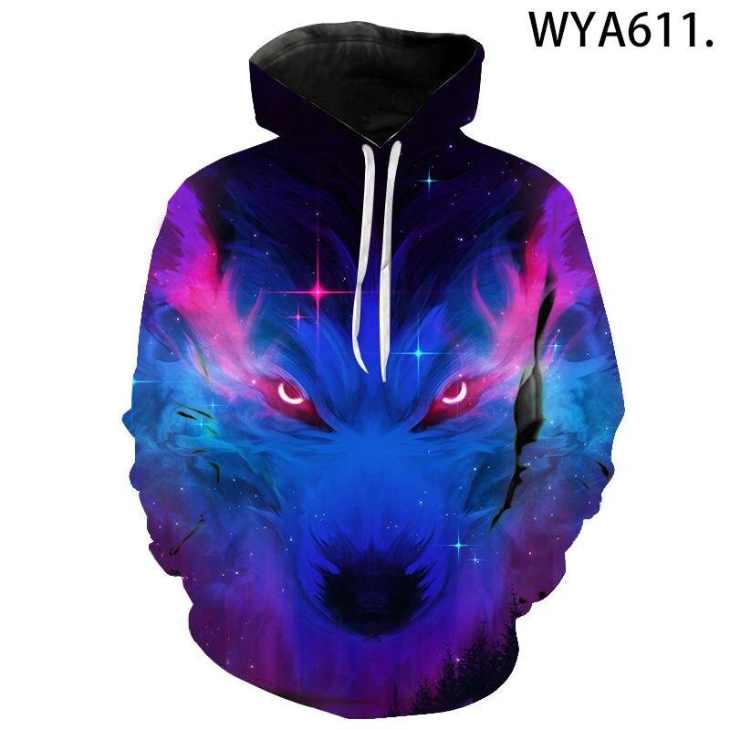 2020 New wolf hoodies Men's hoodie autumn Winter hip hop hoody Tops Casual Brand 3D wolf head Hoodie Sweatshirt Dropship