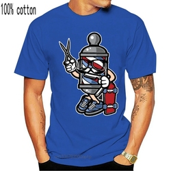 Knitted Barber Skater Cute Cartoon Barber Pole Pop Culture T-Shirt Women O Neck Cute Tshirt Man Plus Size S-5xl Male Tee Top