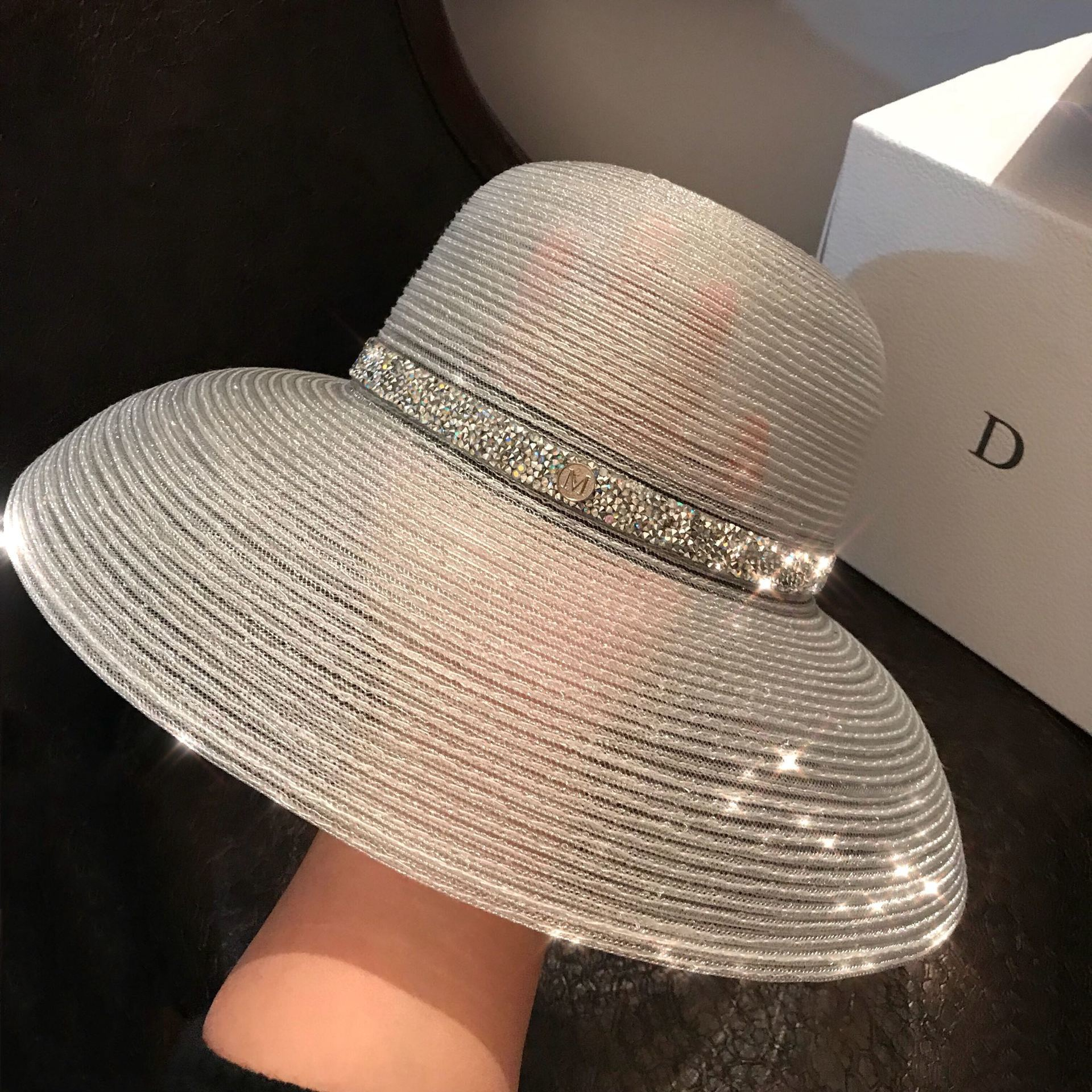 Summer Hats For Beach Women Transparent Hats For Women Visors Hat Wide Brim Hat Caps UV UPF50 Travel Foldable