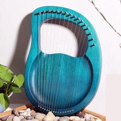16 cuerdas Lira de madera maciza ARPA de madera instrumentos musicales clásicos niños regalo de Navidad-Rosa/Burlywood/azul índigo/clarete