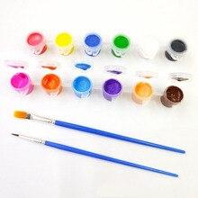 12 акриловая краска набор краски для одежды текстильная ткань ручная краска ed стены Штукатурка Краска ing рисунок для детей