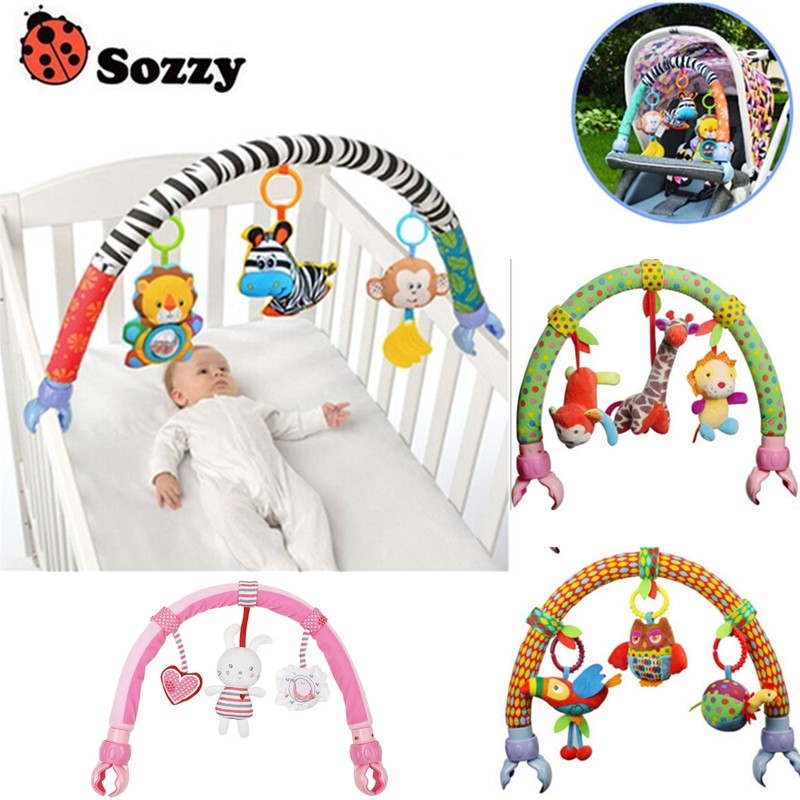 Lovely Baby Cradle Seat Cot Hanging Toys Crib Mobile Stroller Hanging Soft Plush Rattles Ring Bell Educational Baby Toys 40% Off
