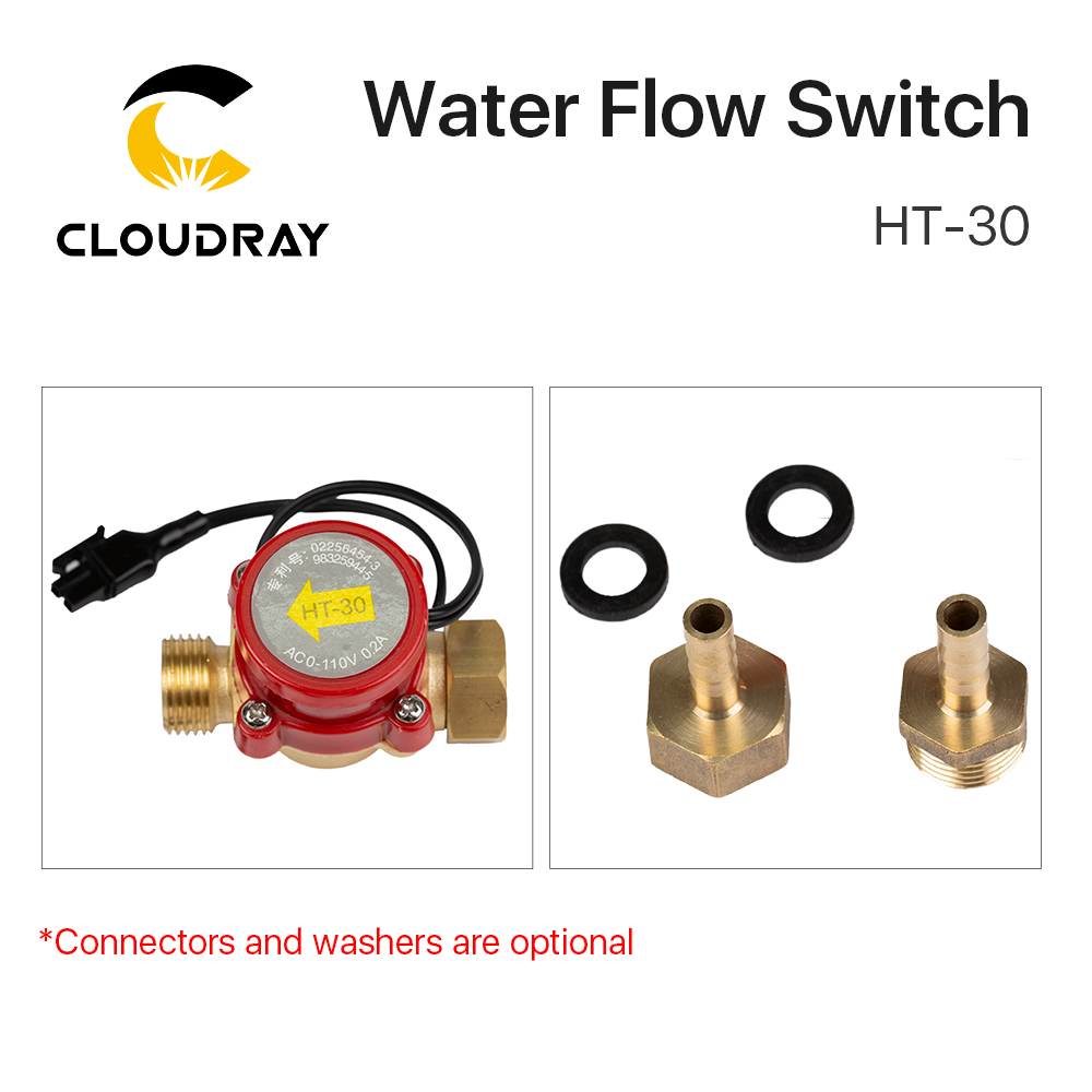 Water Flow Sensor Protect 8mm Switch HT-30 fr CO2 Laser Engraving Cutter Machine