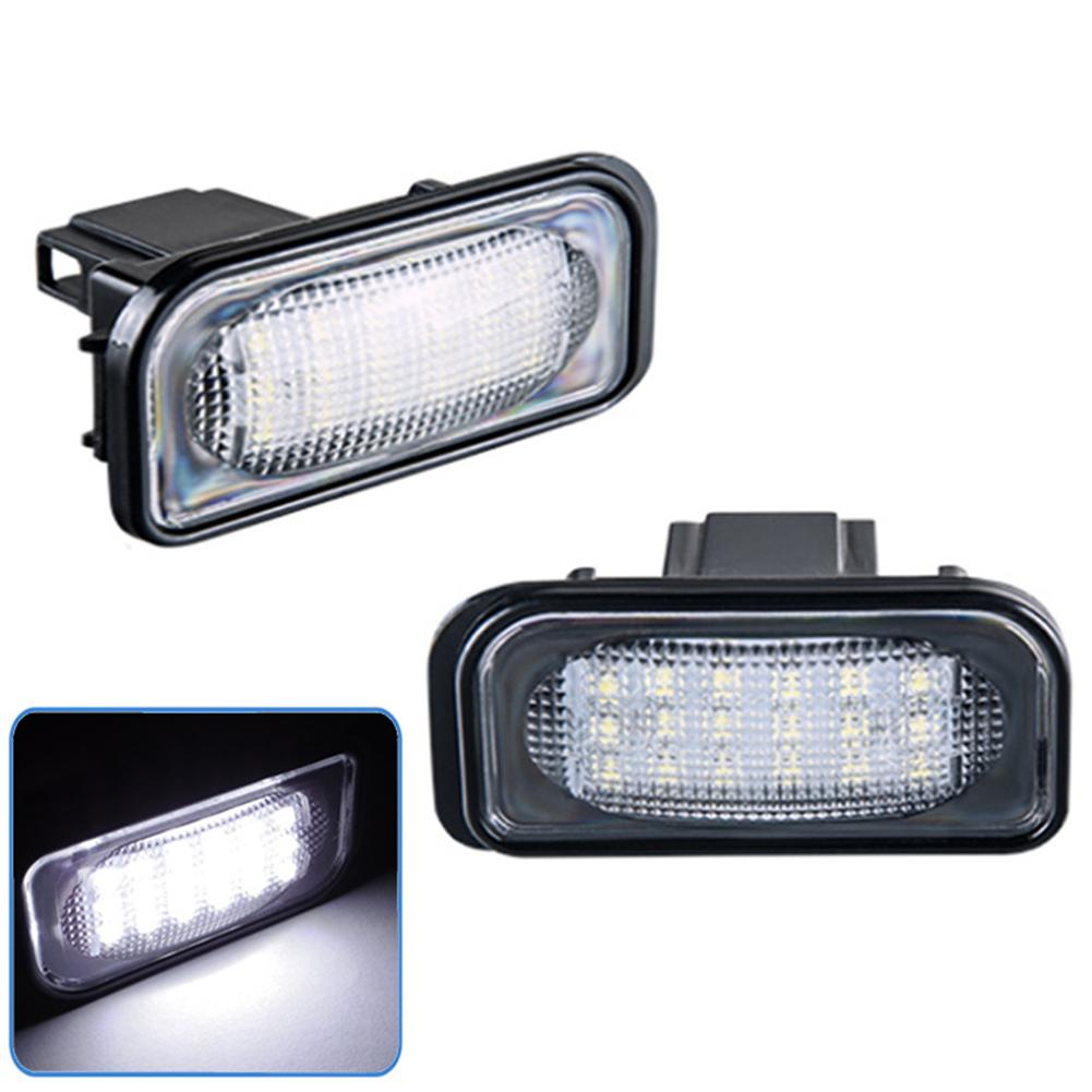 2 uds. Luz de matrícula LED para Mercedes Benz W203 4D Seda luz de matrícula de coche 1,44 W 6500k bombilla de coche
