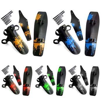 MTB Bike Mudguards Bicycle Front Rear Fender Bike Mudguard Mud Tiles Front Clip-on Bicycle Down Tube Fender Set 1set bicycle mudguard mtb mountain bike road bicycle front rear mudguard fender and front clip on bicycle down tube fender set