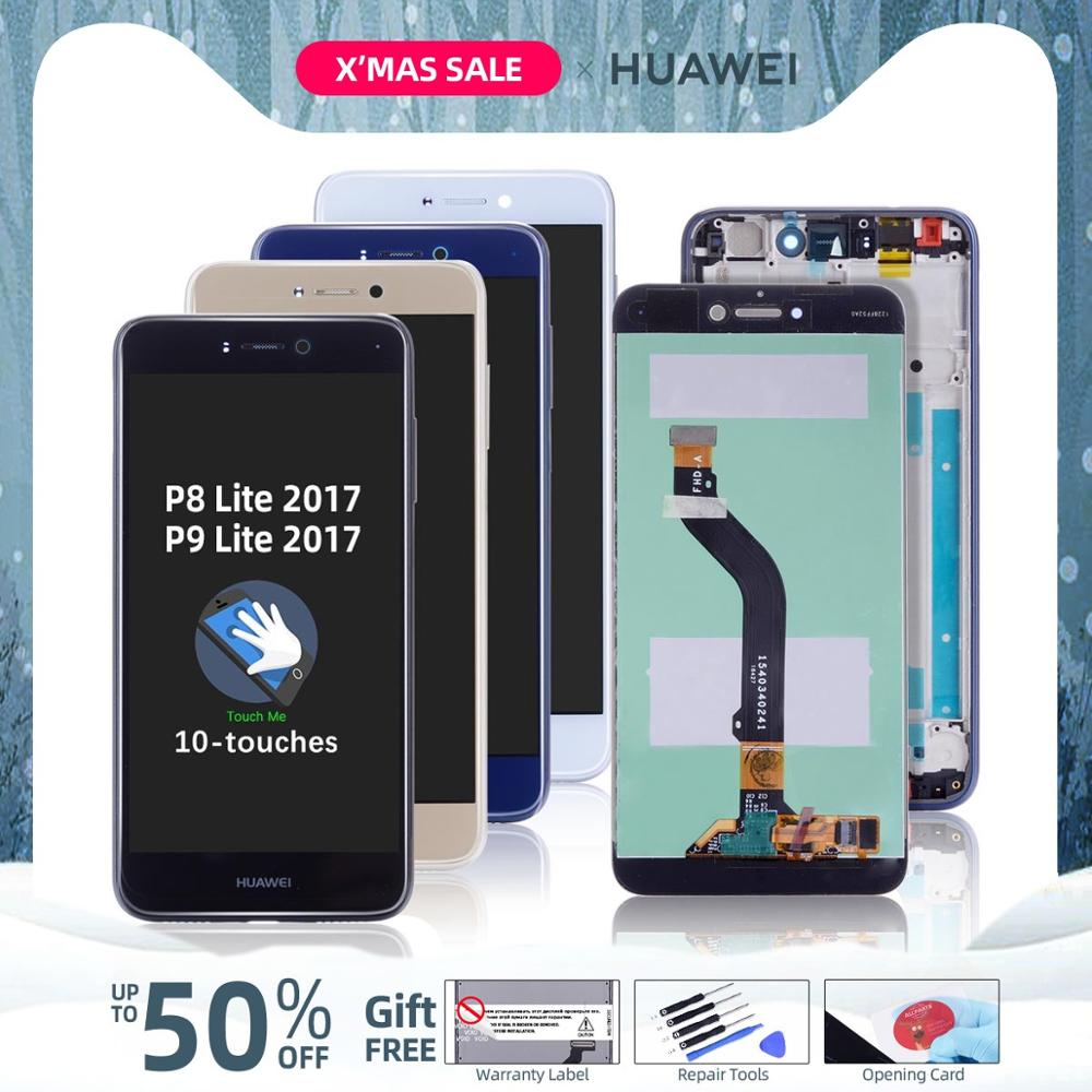 Original LCD For Huawei P9 Lite 2017 Display Touch Screen Digitizer With Frame For Huawei P8 Lite 2017 LCD Display Replacement