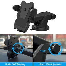 цена на Brand New Style Car Phone Holder Universal 360 Degrees Car Windscreen Dashboard Holder Mount For GPS PDA Mobile Phone Stand