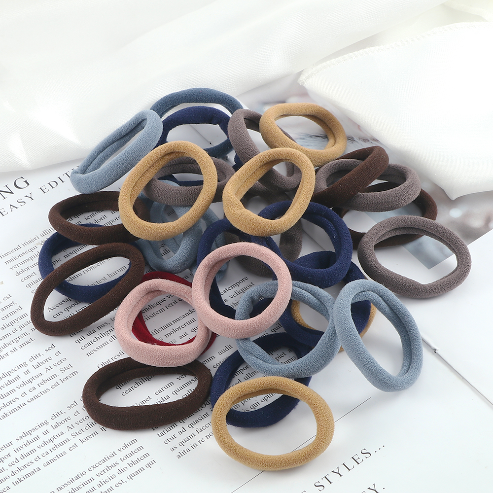 Hair-Bands Ponytail-Holder Scrunchie Elastic Basic Colorful Fashion Women 30/50pcs/set
