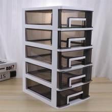 Boîte de rangement de bureau à 4 niveaux, tiroir en plastique, porte-documents et articles divers, armoire à cosmétiques, organisateur de maquillage de bureau