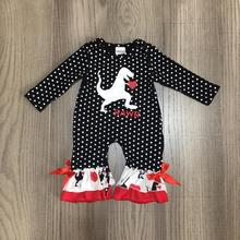 baby girls clothes baby V-day romper baby infant toddler romper girls dinosaur romper baby cotton romper wholesale cheap girlymax geometric Belt Rompers Full O-Neck CXPPF-580505 Knitted