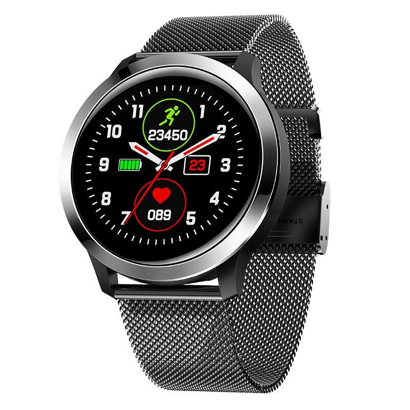 NEW IP68 Waterproof Sports Smart Watch Men Round 1.3 Full Touch Screen ECG+PPG Heart Rate Blood Pressure Monitor Smart Bracelet
