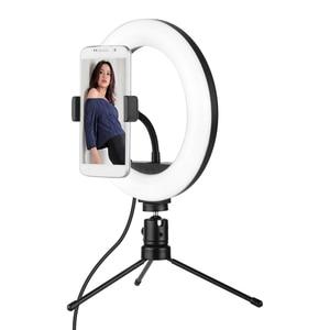 Image 2 - 8นิ้วLED Ring LightหลอดไฟBuilt In 72PcsลูกปัดLED 10วัตต์2700 5500KอุณหภูมิสีสำหรับiPhone Samsung Huawei