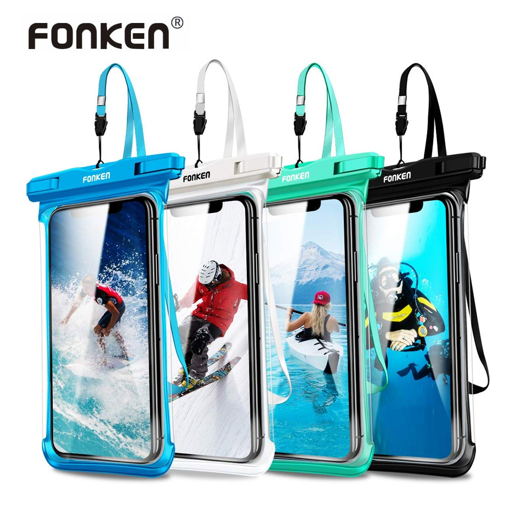 FONKEN Waterproof Case For Phone Full View Universal Soft Phone Cover For IPhone Water Proof Dry Bag For Samsung A50 A51 Case