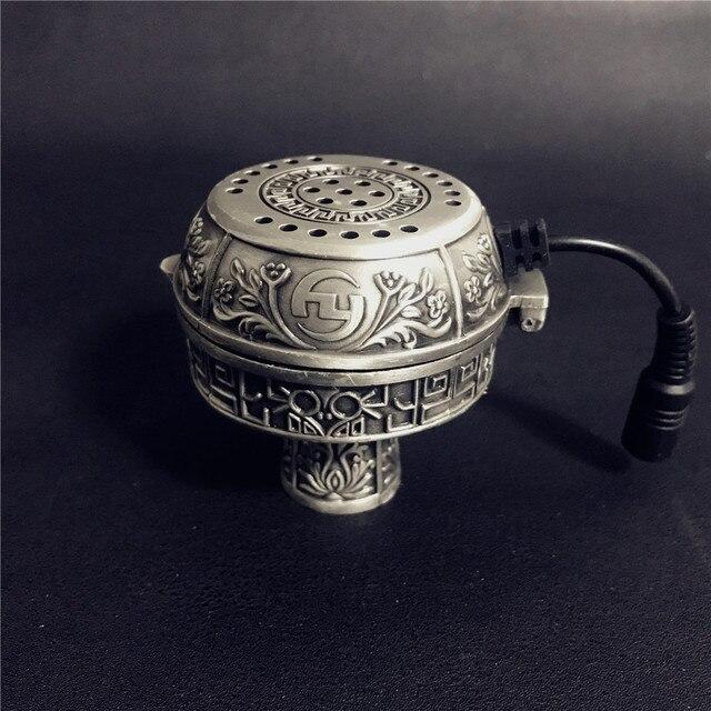 ערבי כסף מתכת נרגילה נרגילות מיוחד פחם חשמלי תנור מחזיק פחמן תנור Chicha קערת נרגילות צינורות אבזרים