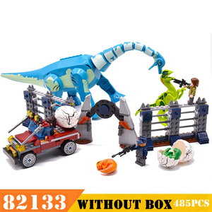 Image 1 - Construction modèle dinosaure 82133, rampe Jurassic Indoraptor à Lockwood Estate, jouets garçons pour enfants, 485 pièces