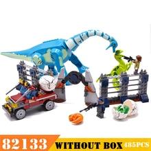 Model budynku dinozaur 82133 jurajski Indoraptor Rampage At Lockwood Estate Model klocki zabawki dla chłopców dla dzieci 485 sztuk