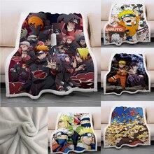 Throw Blanket Naruto Plush Anime Sofa Fleece Warm Picnic Bedroom Soft Bed-Rug Akatsuki